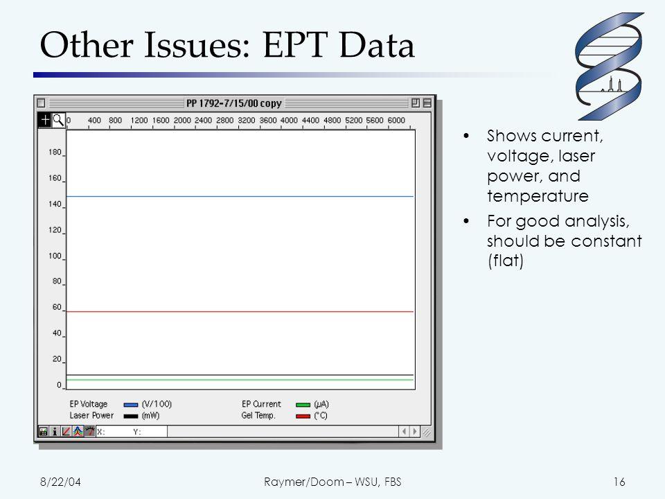 8/22/04Raymer/Doom – WSU, FBS17 Problematic EPT data