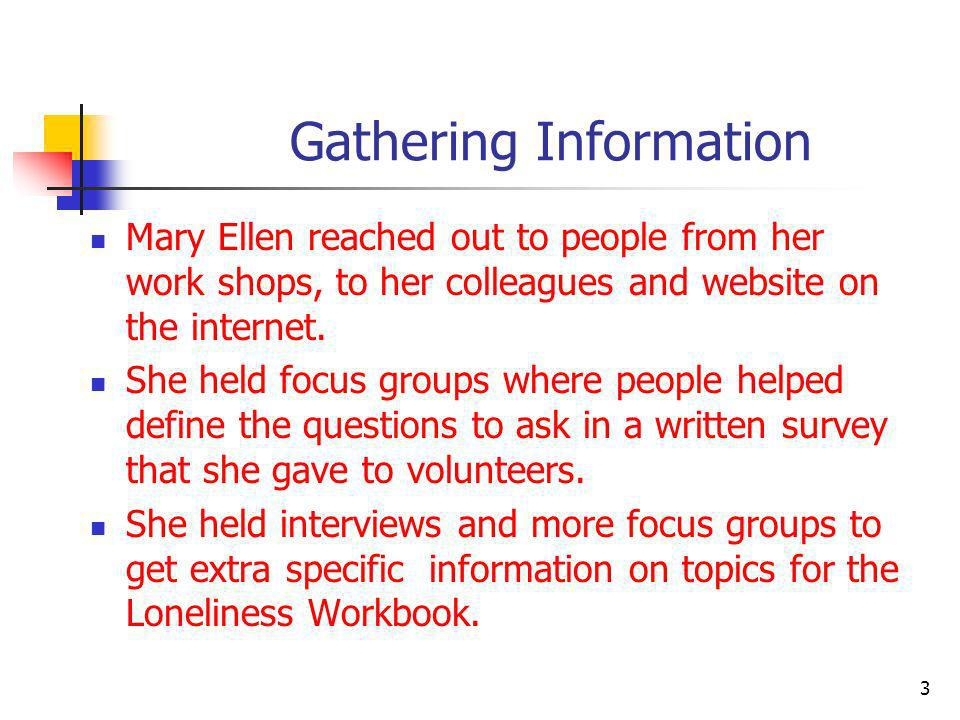 What is Loneliness.According to Mary Ellen loneliness is always a unique experience.
