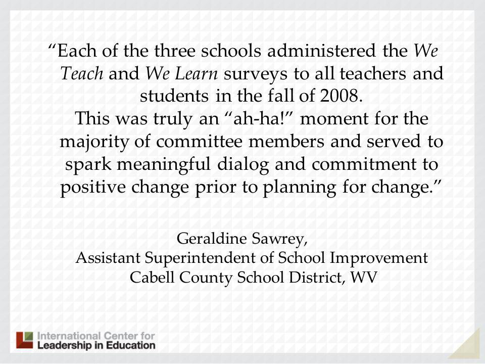 Student work + Student test scores = Teacher evaluation What about student voice?