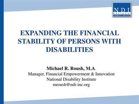 Expanding the Financial Stability of Persons with Disabilities