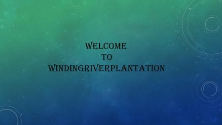 Welcome to WINDINGRIVERPLANTATION