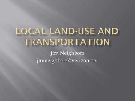 Local land-use and transportation
