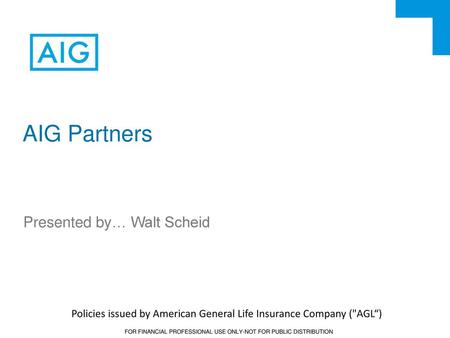 Policies Issued By American General Life Insurance Company (AGLu201c)