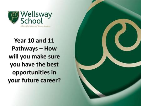 Year 10 and 11 Pathways – How will you make sure you have the best opportunities in your future career?