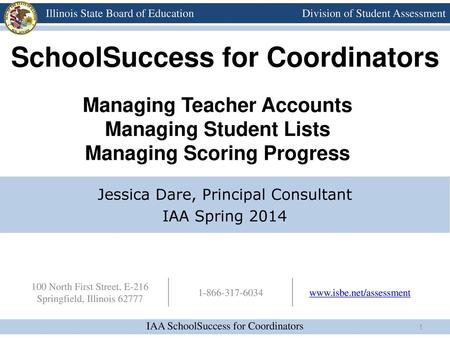 SchoolSuccess for Coordinators