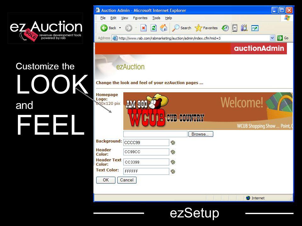 Setup Station CONTACT INFO Set defaults for CERTIFIC ATES Select Program SETTI NGS ezSetup