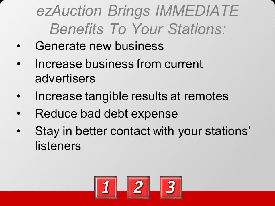 How Does ezAuction Work.