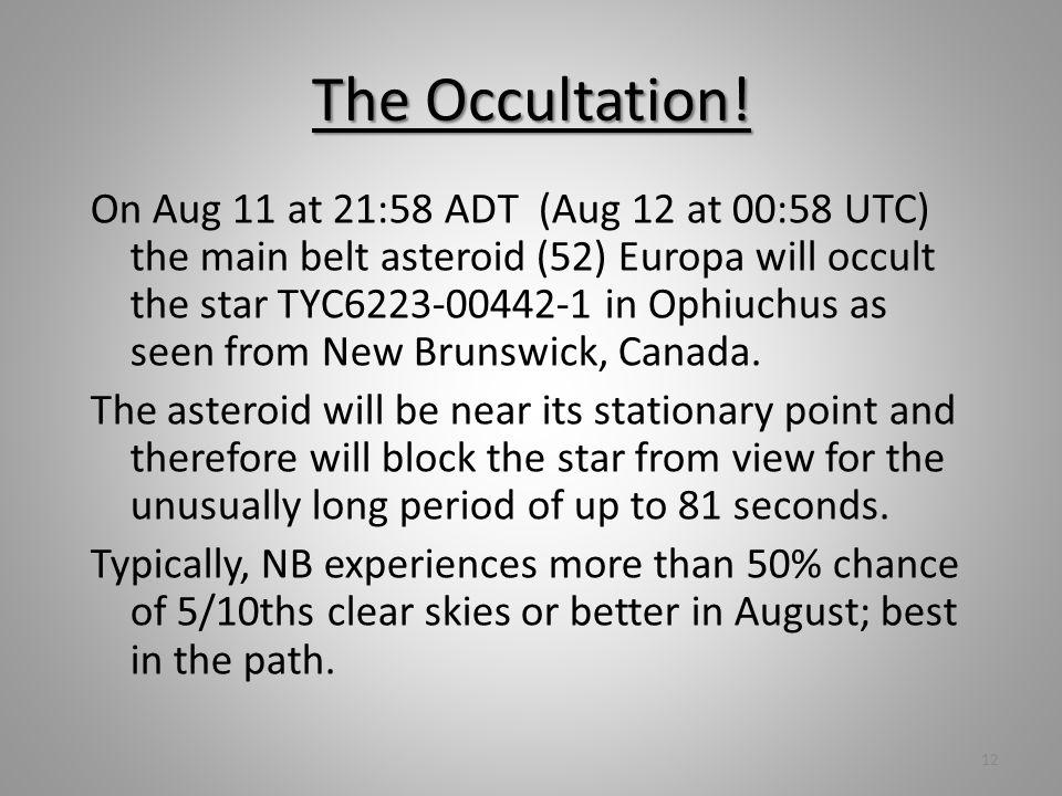 The Occultation.