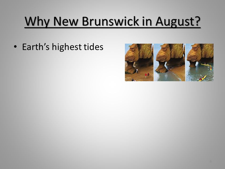 Why New Brunswick in August? Earths highest tides Picturesque countryside 7