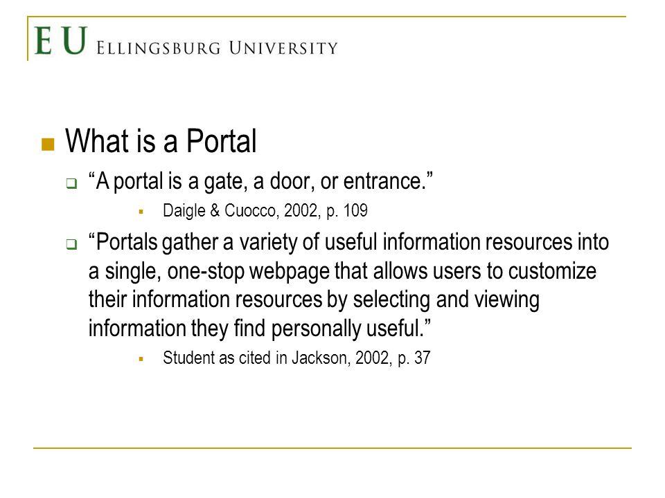 Why a Portal at EU Website v.