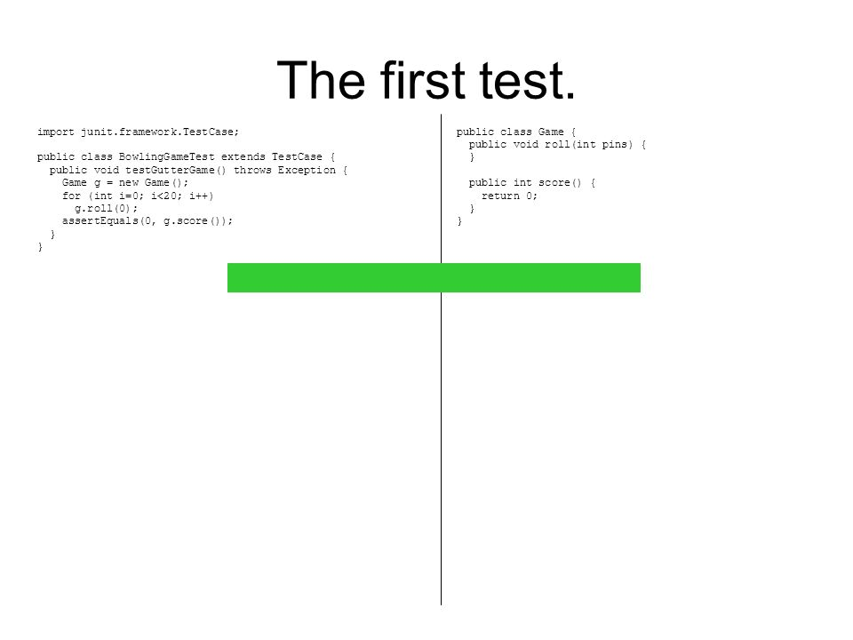 The Second test.