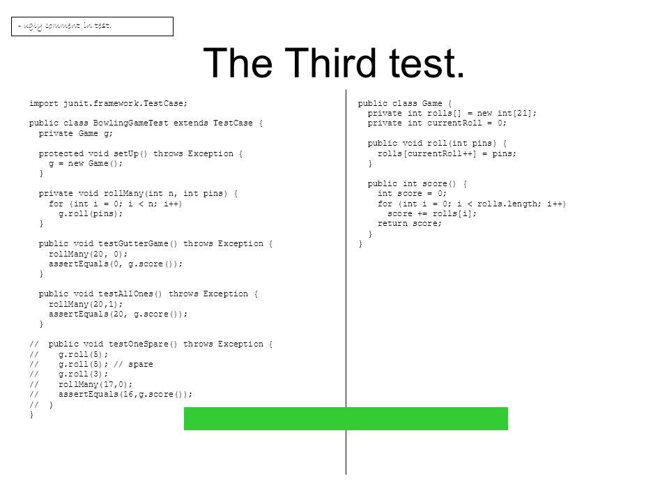 The Third test.