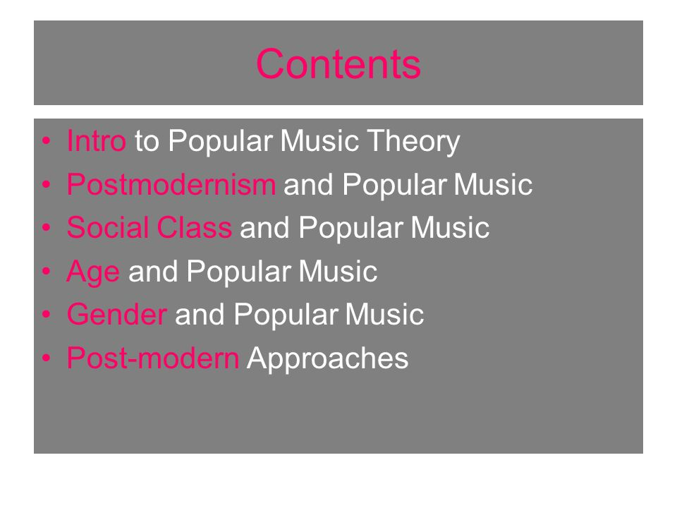 Intro to Popular Music Theory