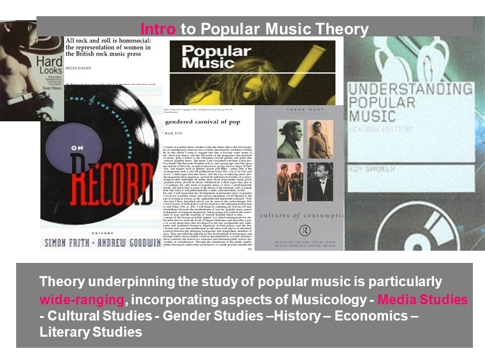 Traditional musicologists have analysed the composition of popular music as if it were a classical composition.