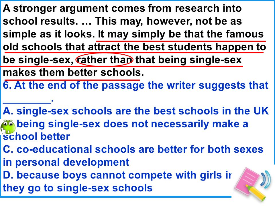 A stronger argument comes from research into school results.