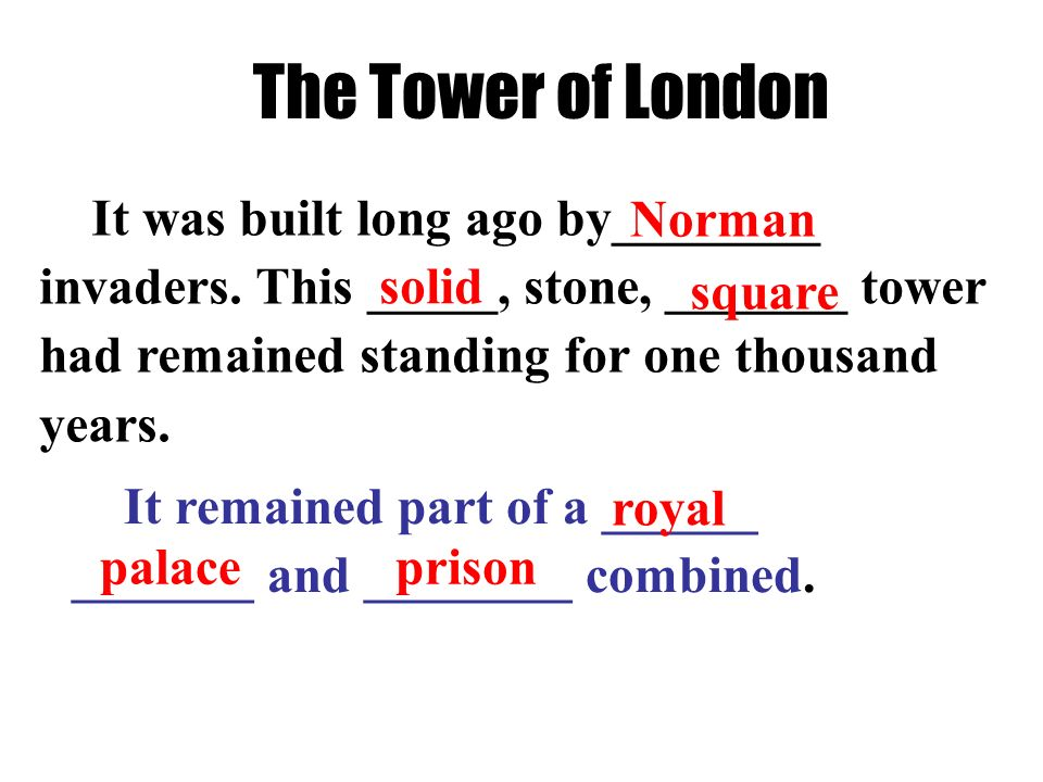 Background information: The Tower of London