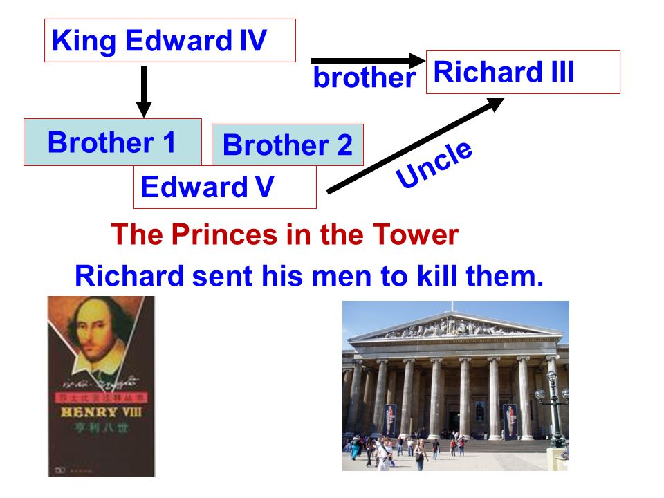 1.Which king on the list was one of the princes in the Tower.