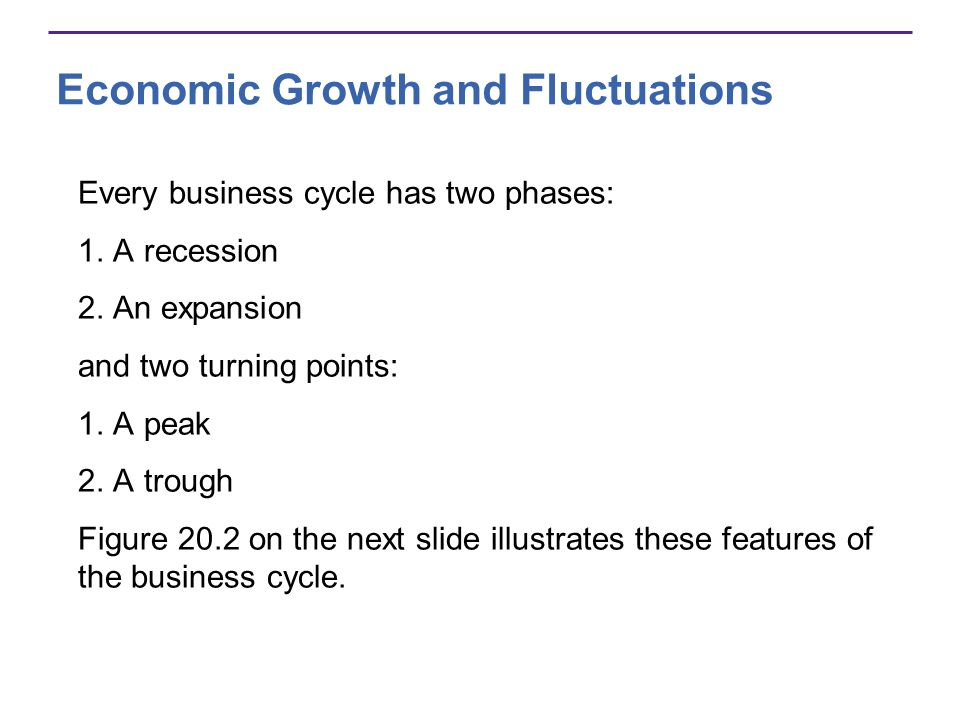Economic Growth and Fluctuations Most recent business cycle in the United States