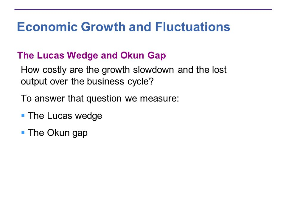 The Lucas Wedge The Lucas wedge is the accumulated loss of output from the productivity growth slowdown of the 1970s.