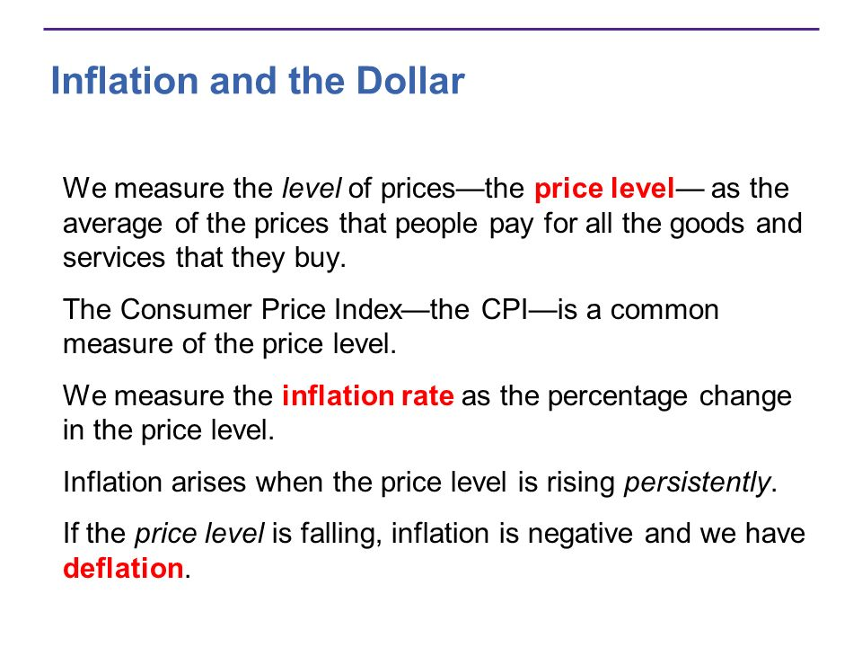 Inflation and the Dollar Was low in the 1960s.Increased in the 1970s and early 1980s.