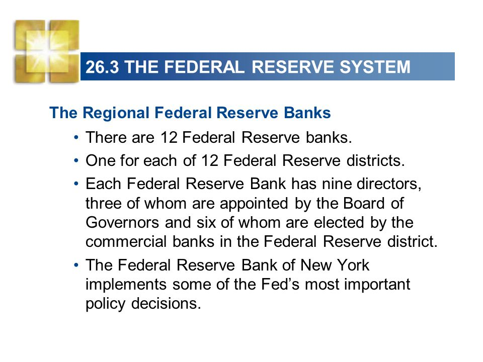 26.3 THE FEDERAL RESERVE SYSTEM The Federal Open Market Committee The Federal Open Market Committee (FOMC) is the Feds main policy-making committee.