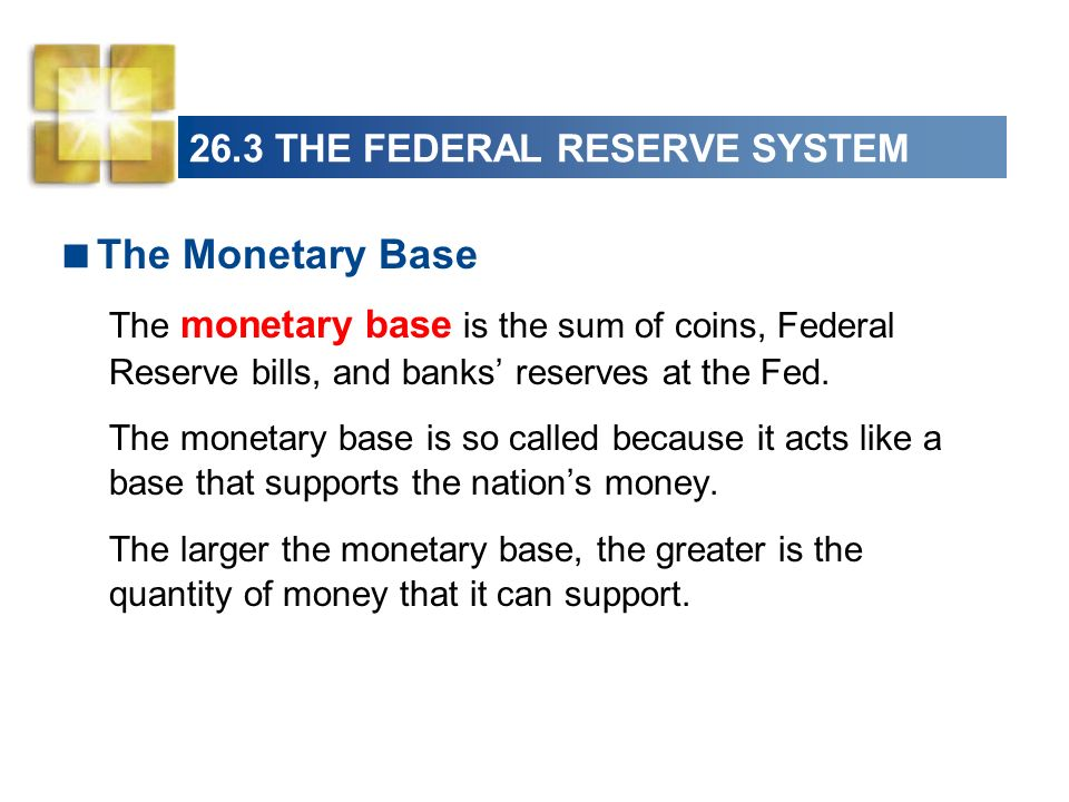 26.3 THE FEDERAL RESERVE SYSTEM Federal reserve bills and banks deposits at the Fed are liabilities of the Fed, and the Feds assets back these liabilities.