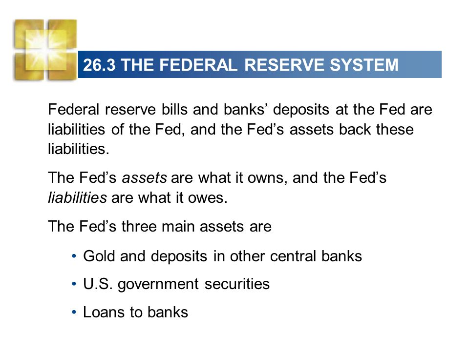 26.3 THE FEDERAL RESERVE SYSTEM Figure 26.8 shows the monetary base and its composition.