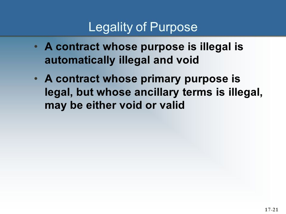 17-22 The Written and the Spoken Word A contract is not a physical thing It is a relationship which exists between the parties A written document is evidence of the contract Oral contracts are more difficult to prove facts Law requires some agreements to be in writing Written evidence supercedes all prior oral evidence All data to be included as part of the contract should appear above the agents signature