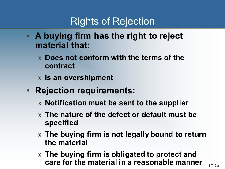 17-27 Title and Risk of Loss From a legal point of view, the question of which party has title to purchased materials is normally answered by defining the F.O.B.