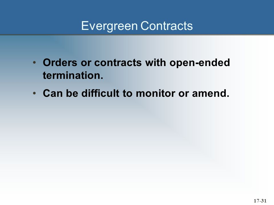 17-32 Order Cancellation and Breach of Contract A breach of contract has occurred if a supplier: »Fails to deliver by agreed delivery date »Fails to perform in accordance with the contract The buying firm has the right to cancel Buying firm can also sue for damages Liquidated damages provisions are common
