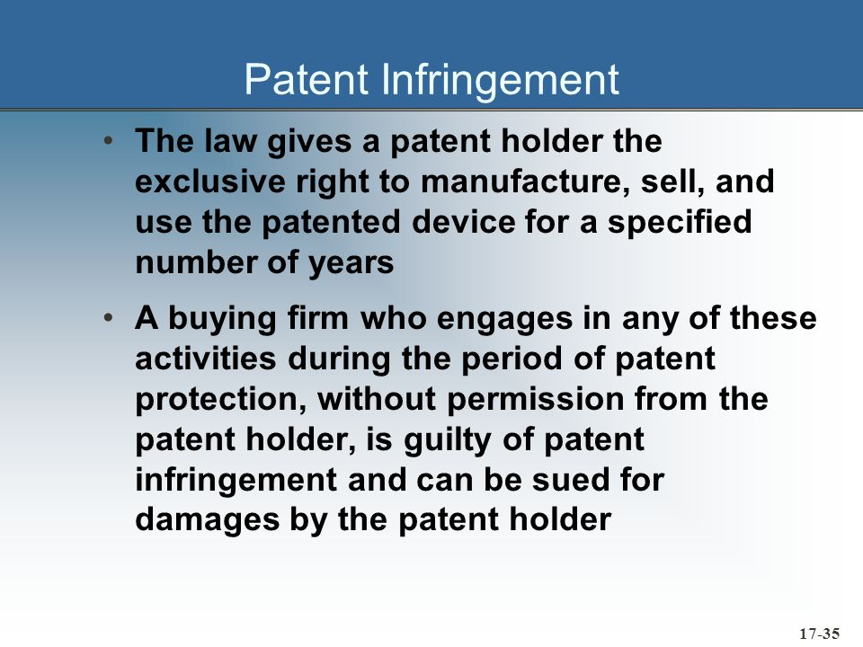 17-36 Restraint of Trade Laws Robinson-Patman Act »Designed to prevent price discrimination that reduces competition in interstate commerce Act prevents a supplier from offering the same quantity of a specific material to competing buyers at different prices, unless: »One buyer is offered a lower price because his or her purchases entail lower manufacturing or distribution costs for the supplier »One buyer is offered a lower price in order to meet the legitimate bid of a competing supplier