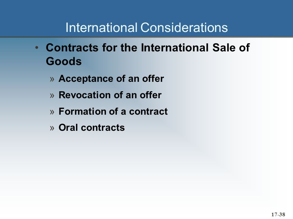 17-39 International Considerations Foreign Corrupt Practices Act »Anti-bribery issues »Record keeping requirements »Penalty provisions Created in reply to American public Amendment to the Securities Exchange Act of 1934 Objective was to curtail U.S.
