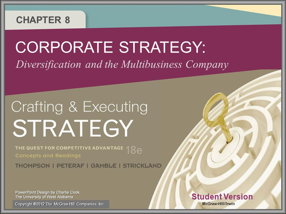 8–28–2 Crafting a Diversified Firms Overall Or Corporate Strategy Step 1 Picking new industries to enter and deciding on the best mode of entry.