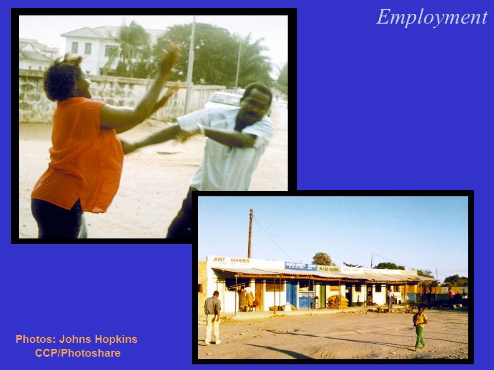 Employment Prevention Program Components: Information & Education Condom Distribution Care & Support Assistant with Treatment AIDS Cases : 1995: 3.69 per 10,000 1996: 2.53 per 10,000