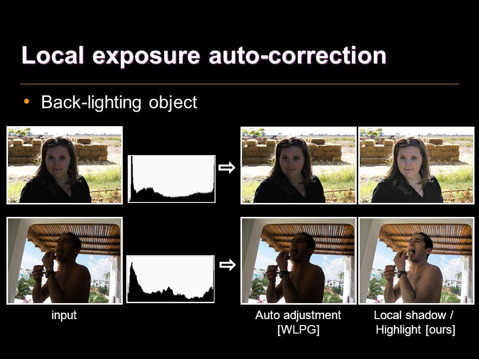 High dynamic range scene detection input confidence map of sky sky detection sky region scene region segment sky histogram scene histogram local contrast in scene region extract features classifier,,