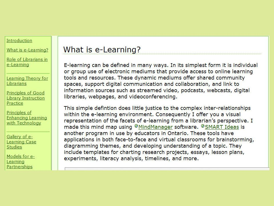 What is e-Learning.