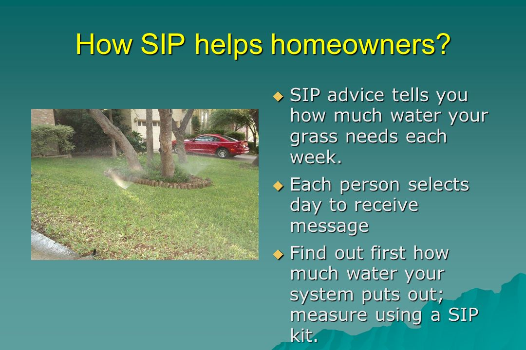 Free SIP Kits Available Kits contain: 4 catch cups a rain gauge conservation tips refrigerator magnet