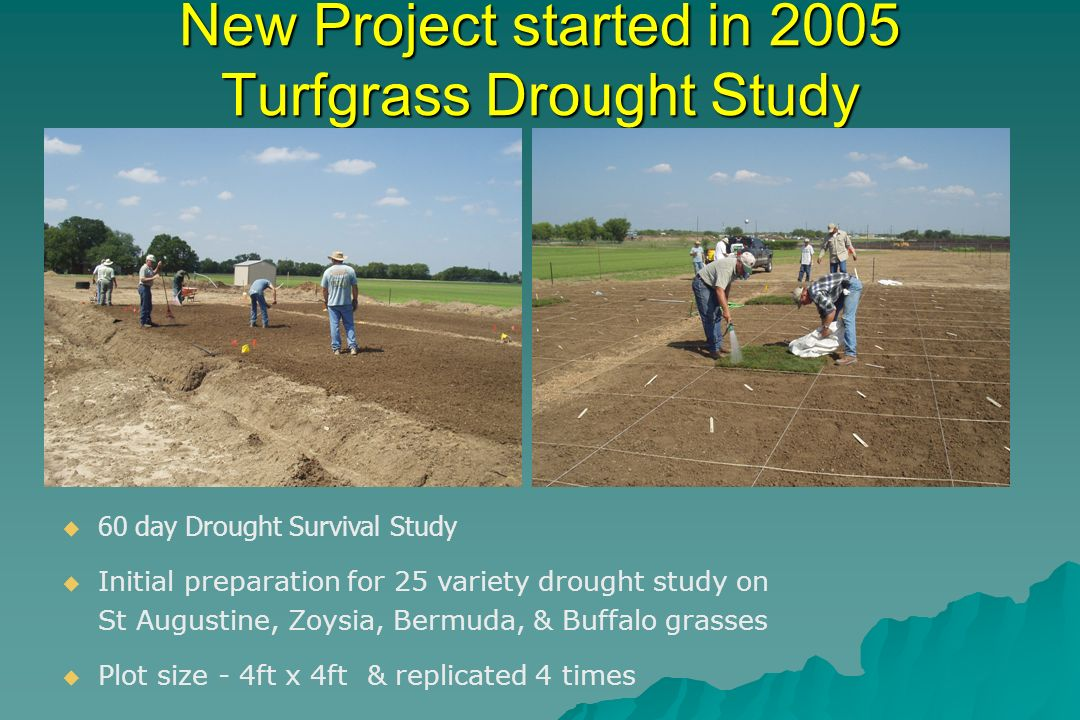 Drought Study Cont….