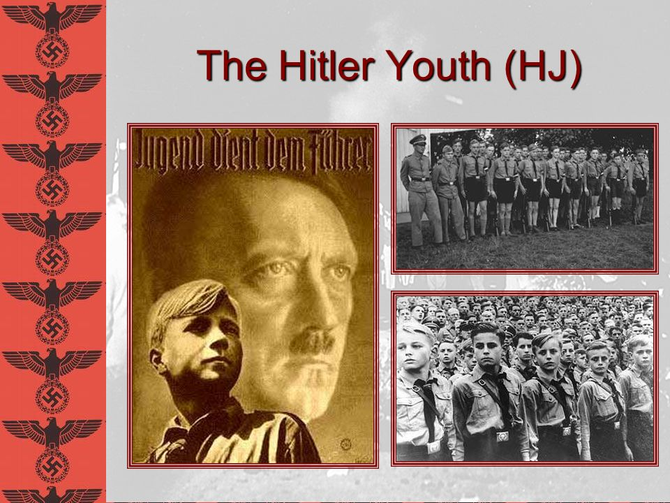 Clip From Triumph of the Will Click image to see video on YouTube Notice direction of film Shows how admired Hitler is Promotes radical emotionalism Notice serious faces, militarism of young boys