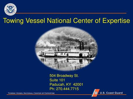 Towing Vessel National Center of Expertise