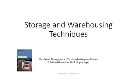 Storage and Warehousing Techniques