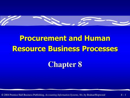 Resource Business Processes