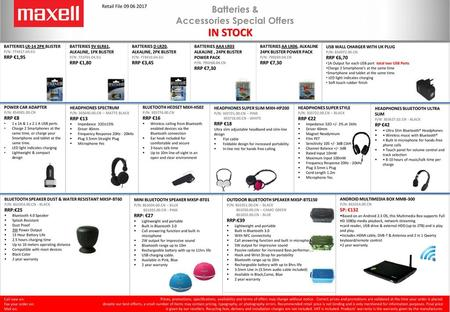 Accessories Special Offers