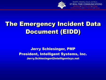 The Emergency Incident Data Document (EIDD)