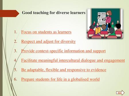 Good teaching for diverse learners