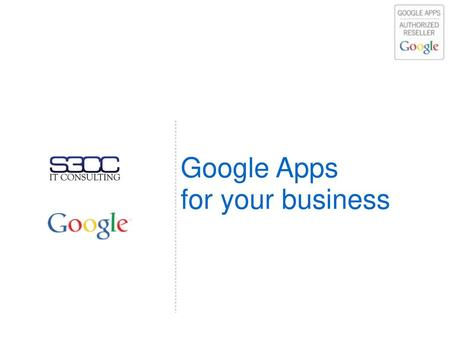 Google Apps for your business.