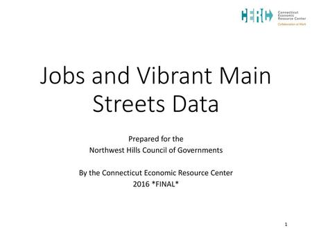 Jobs and Vibrant Main Streets Data