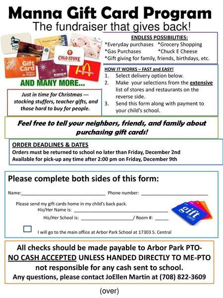 Manna Gift Card Program - ppt download