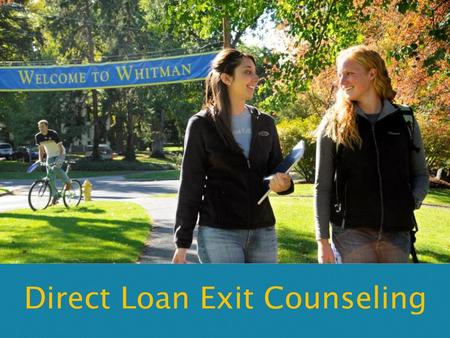 Direct Loan Exit Counseling