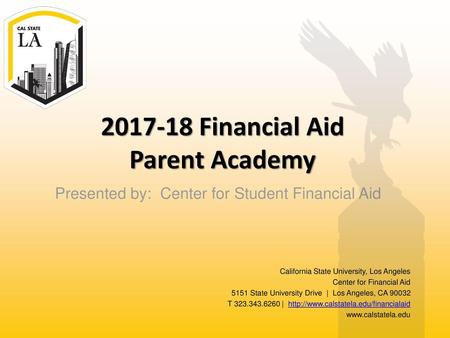 Financial Aid Parent Academy